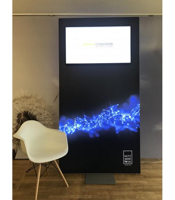 M-Design LED Stellwand zweiseitig, inklusive Druck auf Samba Backlit