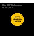 Bitte Abstand halten - 12er Set Bodenvinyl kreisrund Durchmesser 25 cm - Gelb