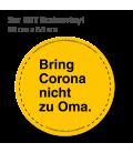 Bring Cororna nicht zu Oma - 3er Set Bodenvinyl kreisrund Durchmesser 98 cm - Gelb