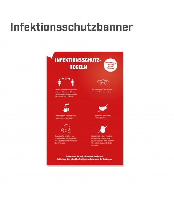 Infektionsschutzregeln Banner