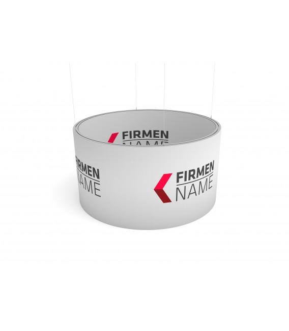 DECKENABHÄNGUNG RUND ein-/ beidseitig, Aluprofil 50 mm, Gummilippe