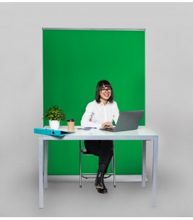 Greenscreen als Hintergrund für Videoproduktion