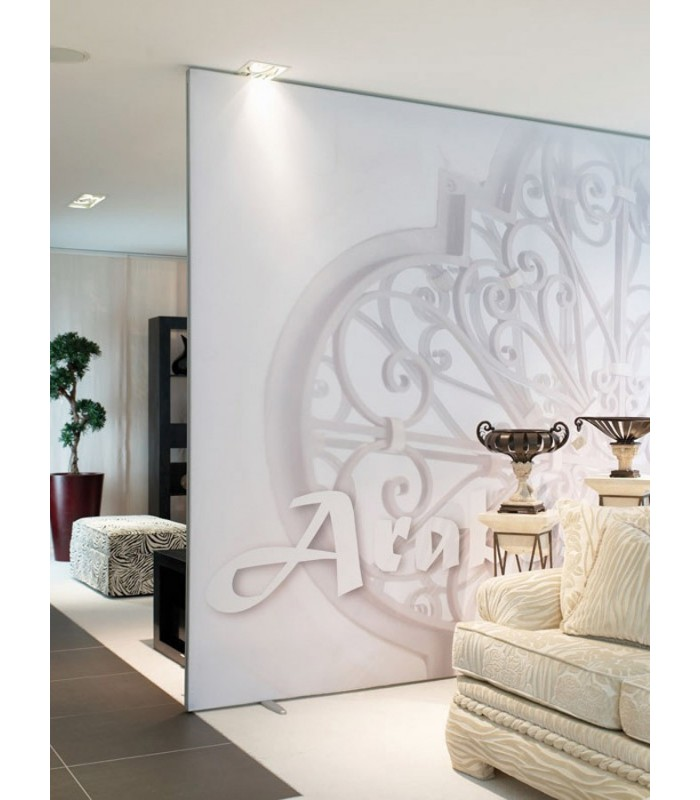 trennwand mit bedrucktem stoff schallhemmend individuell. Black Bedroom Furniture Sets. Home Design Ideas